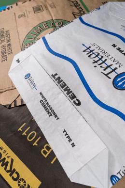 Various industrial paper bags