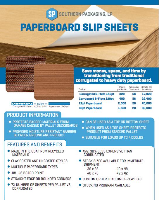 PDF - Paperboard Slip Sheets